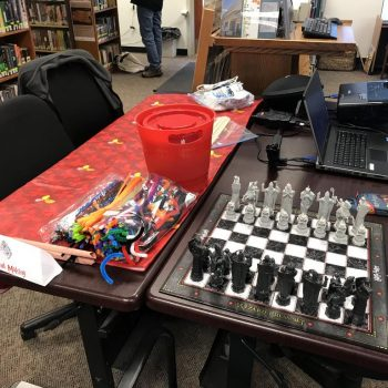 Wand Making and Wizard Chess Station