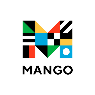 "Logo for Mango Languages: a stylized M above the word ""Mango"" on a white background."